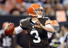 Cleveland Browns quarterback Brandon Weeden passes against the St. Louis Rams in the first quarter of a preseason NFL football game, Thursday, Aug. 8, 2013, in Cleveland.