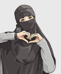 No photo description available. Cute Muslim Couples, Muslim Girls, Girl Cartoon, Cartoon Art, Vector Character, Portrait Vector, Moslem, Hijab Drawing, Graffiti