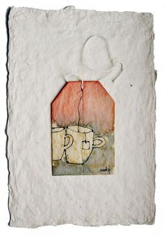 Painted tea bag http://www.rubysilvious.com