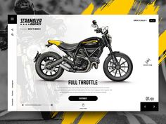 """Daily UI - Concept design for """"Ducati Scrambler"""" designed by ★ Giulio Cuscito ★. Connect with them on Dribbble; the global community for designers and creative professionals. Web Design Examples, Web Ui Design, Layout Design, Ducati Scrambler, Scrambler Motorcycle, Girl Motorcycle, Motorcycle Quotes, Desing Inspiration, Plakat Design"""