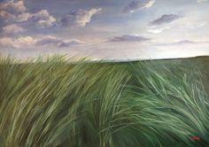 Vento nell'erba, olio su tela 70x100