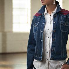 Ryan Michael Navajo Yoke Denim Jacket