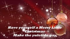Have Yourself A Merry Little Christmas with lyrics by The Carpenters