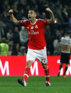 """Boavista – SL Benfica, 0-1 """"É mais uma vitória muito importante"""". Jonas celebra 29º golo (20-03-2016)."""