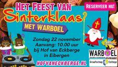 Sinterklaas vier je bij Hof van Eckberge!! Reserveer nu!!!