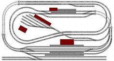 100x186cm N-scale Track Plan