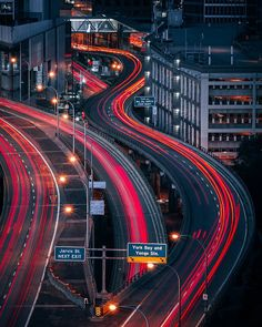 Slow Shutter Speed Photography, Light Trail Photography, Night Photography, Portrait Photography, Exposure Photography, Photography Ideas, Warsaw City, Light Trails, Like Instagram