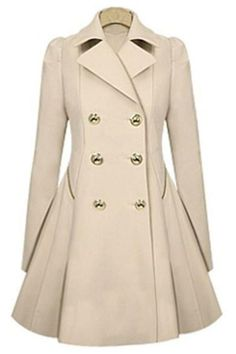 Sheen Queen Double-breasted Trench Coat