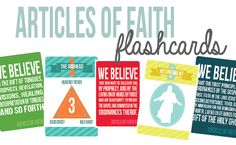 Articles of Faith Flashcards | Mormon Share