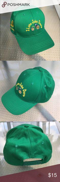 John Deere Cap NWOT John Deere Cap, never worn. Adjustable, one size fits all. John Deere Accessories Hats
