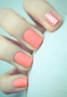 Matte Nails Peach