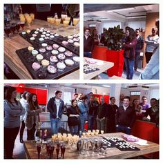 Mini cupcakes, champagne and a big THANK YOU!