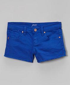 Look at this #zulilyfind! Cobalt Denim Shorts - Toddler & Girls #zulilyfinds