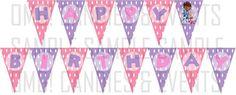 Doc McStuffins Happy Birthday Banner by omgcandiesandevents, $8.50