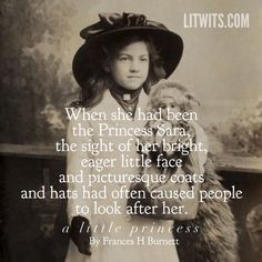 """A """"Princess Sara"""" in her picturesque hat, as in A LITTLE PRINCESS by Frances Hodgson Burnett. When kids """"do"""" a story in real-life ways, they learn and read more. Free activity/template + fun, unique teaching ideas at https://litwits.com/a-little-princess/  ."""