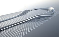 This rolling slope design, which will lie at the foot of Nelson's Column, was created by Zaha Hadid