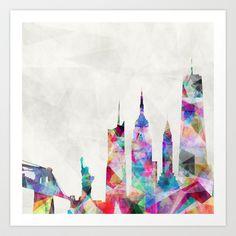New York Art Print by Mareike Böhmer Graphics - $19.00
