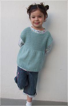 Ravelry: P'tits Biscuits - la blouse pattern by Cécile LEVESQUE