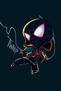 Miles Morales - Ultimate Spider-Man, Into the Spider-Verse Spiderman Girl, Comics Spiderman, Avengers Cartoon, Marvel Cartoons, Black Spiderman, Spiderman Spider, Amazing Spiderman, Nerdy Wallpaper, Avengers Wallpaper