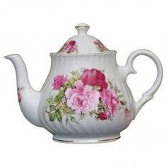 Summertime Rose Fine Bone China - 4 Cup Teapot
