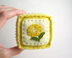 Embroidered Felt Pincushion