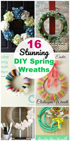 16 Easy DIY Front Door Spring Wreath Ideas
