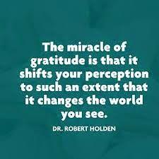 Agradecer muda a nossa perspectiva de um mundo limitado, para um universo expandido! Google+