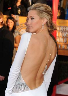 You may not have heard about the backlace by name, but you've definitely seen this trend on a red carpet. We rounded up how our favorite celebrities have worn the trend here to give you some backlace inspiration. Sag Awards, Gillian Anderson, Kate Hudson, Golden Globes, Red Carpet, Formal Dresses, Chic, Celebrities, Style
