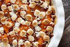 Sweet Potato Casserole | Skinnytaste  -- very good...I would skip the raisins next time and there was a request for brown sugar instead of marshmallows.  Not as heavy as my usually one.