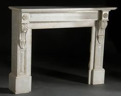 FRENCH NEO-CLASSIC MARBLE FIRE SURROUND