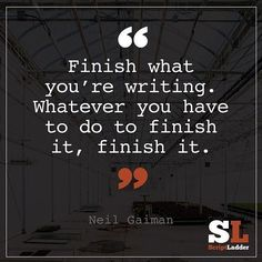 "341 Likes, 7 Comments - TeTe (@thewriterink) on Instagram: ""#finishit #neilgaiman #amwriting #writeon✌️"""