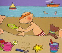 Thema water en zand : prent