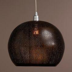 Bronze Perforated Hanging Pendant Lamp | World Market