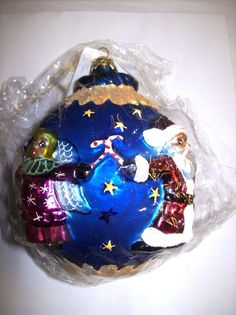 "Christopher Radko (1998) (Retired) ""Circle of Cheer"" Glass Ornament - Poland"