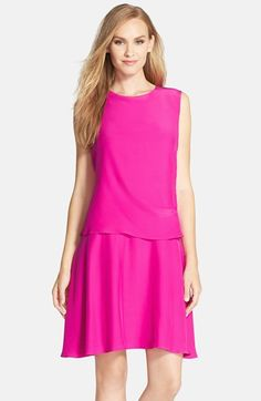 Donna Morgan Sleeveless Charmeuse Popover Dress (Regular & Petite) available at #Nordstrom