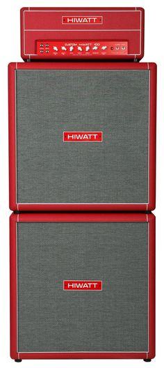 hiwatt - custom 100 full stack. full red.