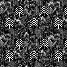 Arrow tree print design, black & white pattern