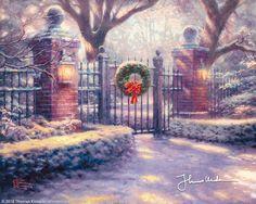 Christmas Gate by Thomas Kinkade