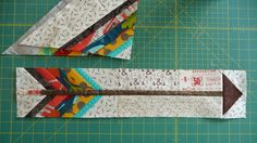 How to make a modern arrow patchwork block