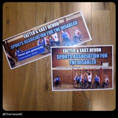 Collection box and bucket labels designed and printed for Exeter and East Devon Sports Association for the Disabled. If you are interested in our collection box and bucket labels please visit our website: www.charnwood-catalogue.co.uk #charity #fundraising #fundraisingsupplies