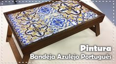 BANDEJA AZULEJO PORTUGUÊS com Tati Rocha - Programa Arte Brasil - 26/01/...