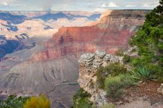 A vista of the south rim of the Grand Canyon