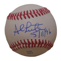 NY Mets Al Leiter signed Rawlings ROLB leather baseball w/ No Hitter Inscription & proof photo.  Proof photo of Al signing will be included with your purchase along with a COA issued from Southwestconnection-Memorabilia, guaranteeing the item to pass authentication services from PSA/DNA or JSA. Free USPS shipping. www.AutographedwithProof.com is your one stop for autographed collectibles from New York sports teams. Check back with us often, as we are always obtaining new items.