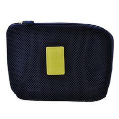 Yoption Travel and Daily Creative Shockproof Digital Storage Bag Pouch Multifunction Makeup Smartphone Charger Headset Data Cable Case Navy Blue -- Details can be found by clicking on the image.