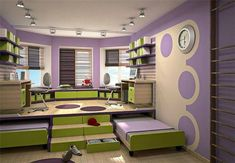 Build a Platform and Use It as an Activity Area and Tuck in Trundle Beds Underneath It to be Rolled Away When not Needed ideas for small rooms for boys for kids space saving 6 Space Saving Furniture Ideas for Small Kids Room - Page 2 of 3 Kids Bedroom Furniture Design, Kids Room Design, Bedroom Decor, Furniture Ideas, Bedroom Ideas, Bedroom Storage, Space Saving Beds, Space Saving Furniture, Small Rooms