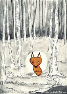 """Photo from album """"fox"""" on Yandex. Fennec, Forest Illustration, Fox Art, Woodland Creatures, Whimsical Art, Spirit Animal, Cute Art, Illustrations Posters, Art Projects"""