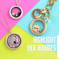 Highlight her hobbies with this look. #origamiowl #hobbies #gift #fashion www.dollinevance.origamiowl.com
