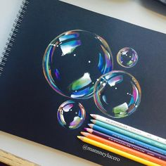 Pencil Drawing Tips bubbles Drawing Techniques, Drawing Tips, Drawing Ideas, Gem Drawing, Drawing Designs, Drawing Faces, Color Pencil Art, Art Tips, Cool Drawings