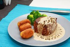Hovädzí steak s omáčkou zo zeleného korenia