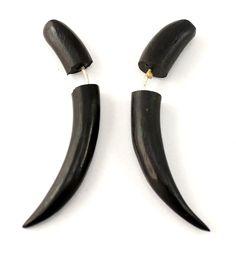 (SKU NO:sew_20) A Pair of Coconut Earrings Coco Wood Wooden Boho Hippie Earrings, Krishna Mart India